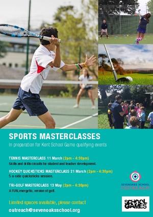 Sports masterclasses 2019 flyer