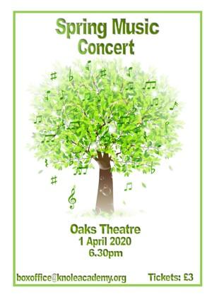Poster for spring concert 2020