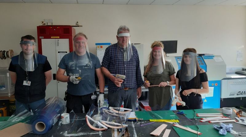 Design Tech & Science DePARTMENTS produce PPE Face Shields for the local community