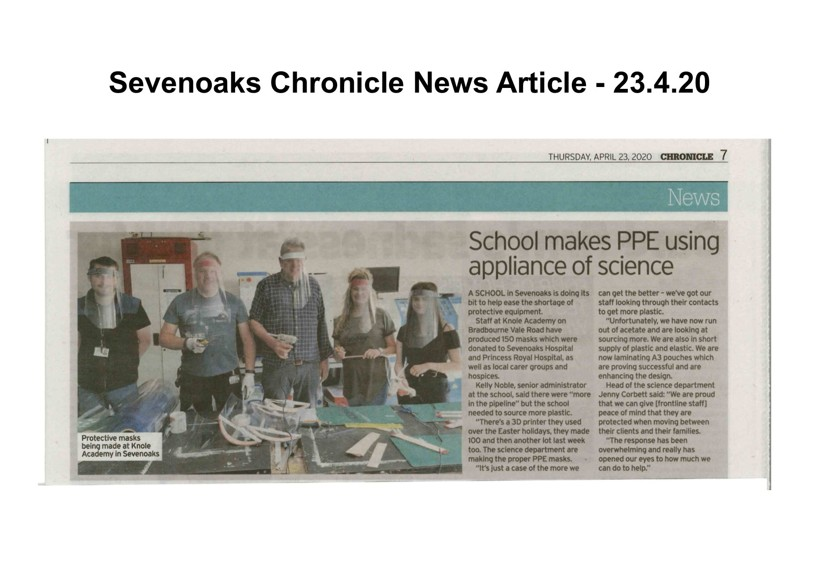 7 oaks chronicle news article ka ppe face shields 23420