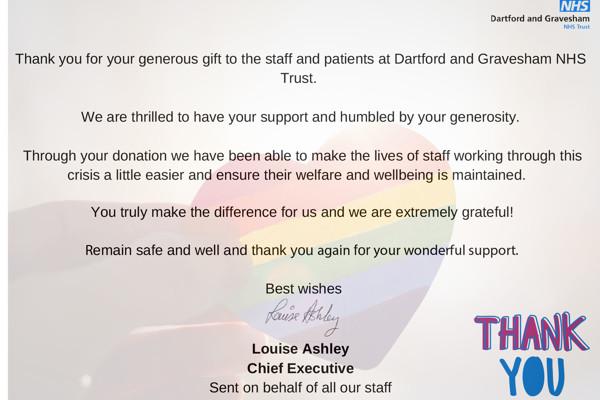Nhs dartford gravesham thank you card 2