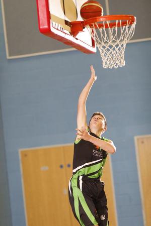 Basketball hoop shot