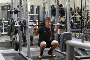 Gym bar weights
