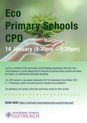 Eco primary schools cpd poster 14 jan 2021